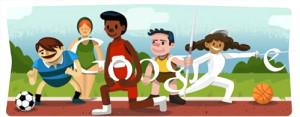 Google'ın Tüm Londra 2012 Olimpiyat Oyunları Doodle'ları