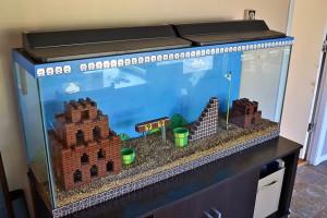 Legodan Super Mario Akvaryumu Yaptı