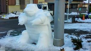 Japonya'da Çizgi Karakterler Kardan Adama Dönüştü