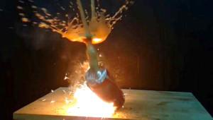 Maytapla Yaktığı Kola Kutusu Bomba Gibi Patladı