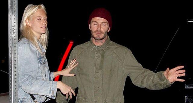 David Beckham ve ?ngiliz Model Delevingne, ?çkili Halde Görüntülendi