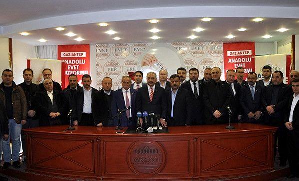 Gaziantep'te 22 Stk'den 'Evet' Açıklaması