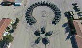Silopi'deki Tank Taburundan Tanklarla Ay-Yıldızlı Şov
