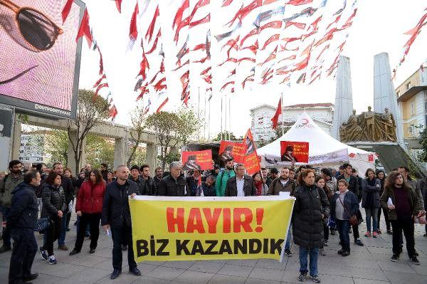 İstanbul'da Referandum Sonuçları Protestoları