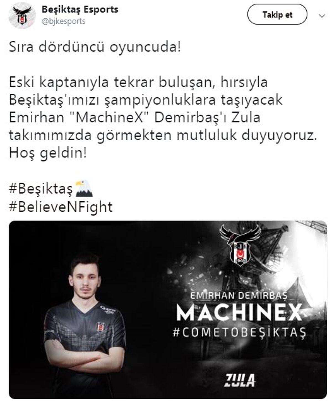 Beşiktaş Espor'a 2 Transfer Daha: Zula Kadrosu Tamamlandı