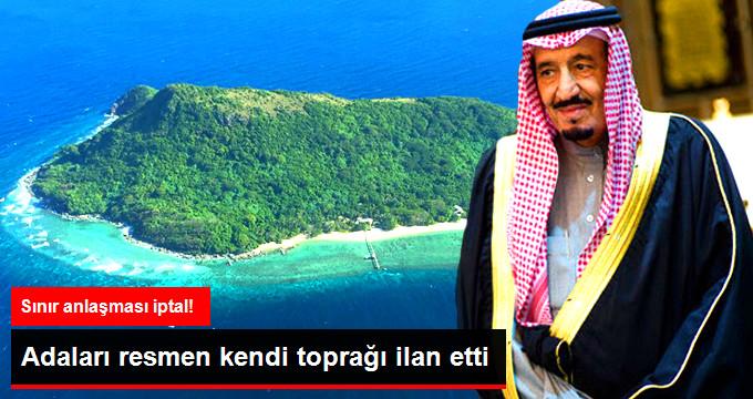 Adaları resmen kendi toprağı ilan etti