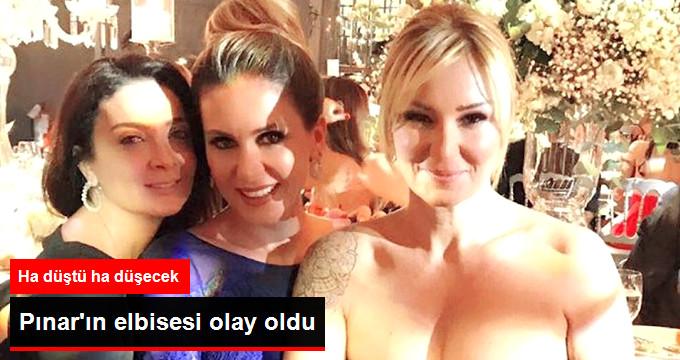 Pınar'ın elbisesi olay oldu