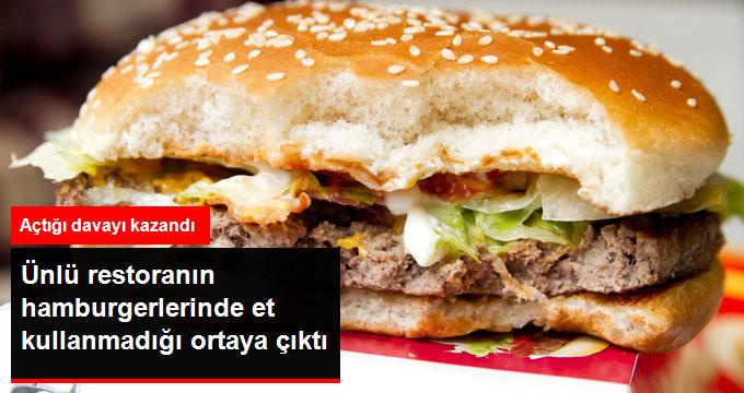 Ünlü restoranın hamburgerlerinde et kullanmadığı ortaya çıktı