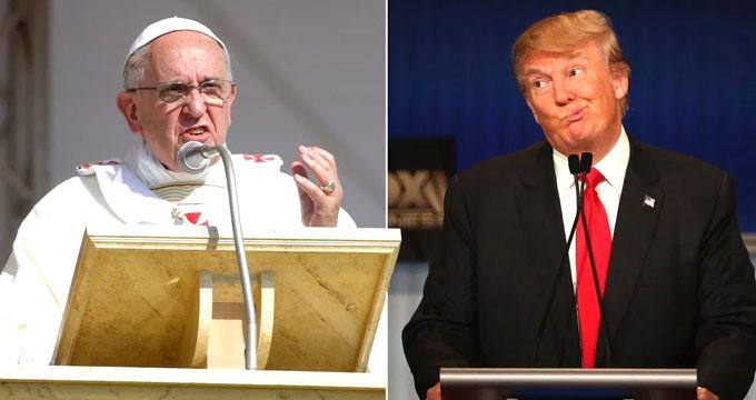 Papa'dan Trump'la arasındaki gerilimi artıracak sözler...