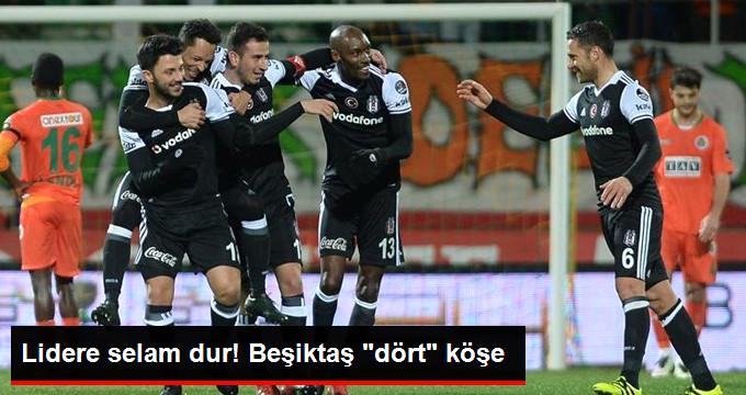 Süper Lig de Beşiktaş, Alanyaspor u 4-1 Yenerek Liderliğe Yükseldi