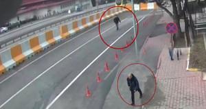 Teröristlerin Emniyet önünde keşif yaparken görüntüleri çıktı