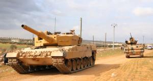 DEAŞ bombalı araçla saldırdı, Türk tankları El Bab'a hareketlendi