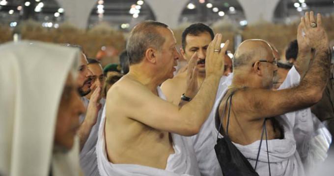 Erdoğan umre yaptı! İşte Kabe'den kareler