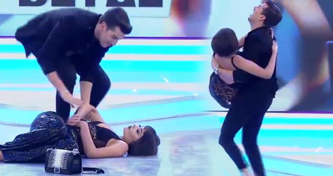 Sahnede bayılan yarışmacıya Kerimcan'dan anında müdahale!