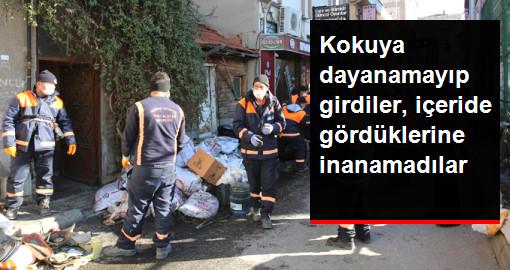 Belediye Ekipleri, Bir Evden 5 Kamyon Çöp ve 3 Ölü Kedi Yavrusu Çıkardı