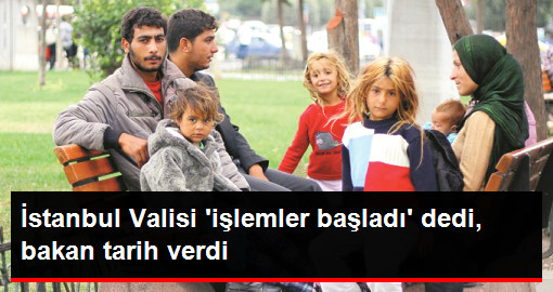 İstanbul Valisi 'işlemler başladı' dedi, bakan tarih verdi