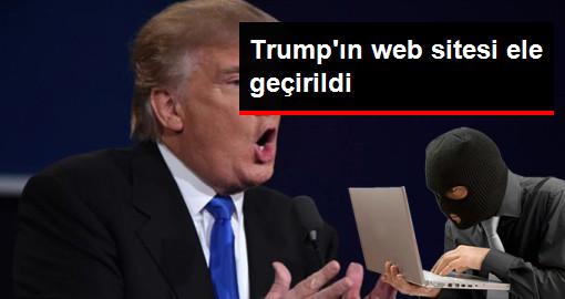 Trump'ın Web Sitesi Ele Geçirildi