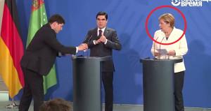 Türkmen başkanın yaptığı harekete Merkel şaştı kaldı!