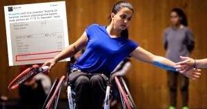 Engelli milli tenisçiye utandıran muamele