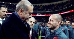 Cumhurbaşkanı, Sneijder üzerinden Hollandaya yüklendi