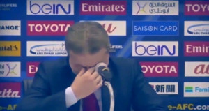 Suriyeli teknik direktör canlı yayında hüngür hüngür ağladı