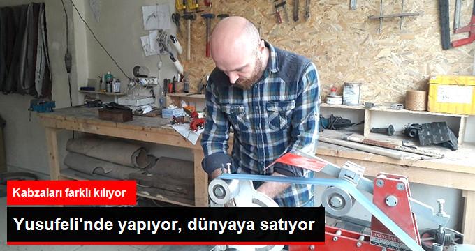 Bıçak Ustası Yusufeli'nde Yaptığı Tasarımları Dünyaya Satıyor