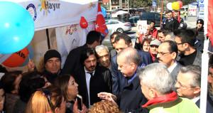 Erdoğanın hayır çadırı ziyaretinde neler yaşandı?