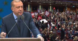 Erdoğan müjdeyi verdi, tüm salon ayakta alkışladı