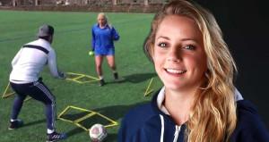 Kadın sporcudan akıllara zarar antrenman