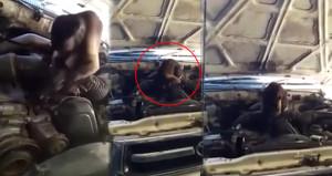 Araba tamiri yapan usta maymun!