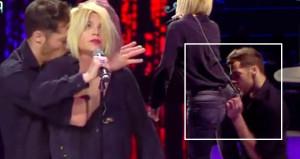 İtalyan şarkıcı, televizyon programında taciz edildi