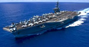 ABD'nin uçak gemisi, Kuzey Kore açıklarında savaş provasına başladı