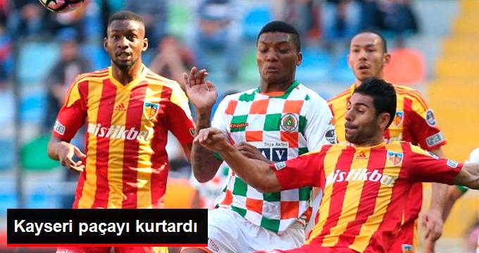 Süper Lig'de Kayserispor, Aytemiz Alanyaspor'u 3-0 Yendi