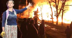 Köyde 60 evden 50'si yandı, şimdi enkazdan kap kacak topluyorlar!