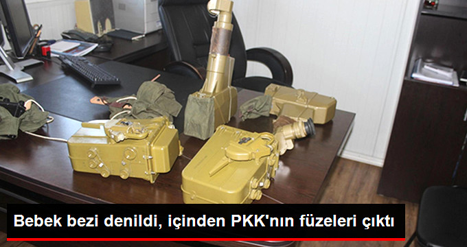 BEBEK BEZİ DENİLDİ, İÇİNDEN PKK'NIN FÜZELERİ ÇIKTI