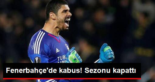 Fenerbahçeli Kaleci Fabiano'nun Çapraz Bağları Koptu