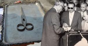 Menderes'in kullandığı 62 yıllık makasla, fabrika yeniden açıldı