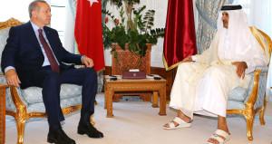 Katar'da samimi zirve! Emir böyle karşıladı