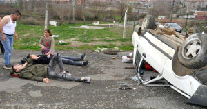 Babadan kaza yapan oğluna ilginç tepki: Üzülme yenisini alırım