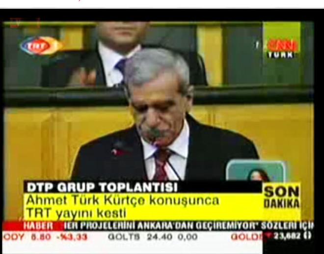 Ahmet Türk Kürtçe Konuştu Yayın Kesildi