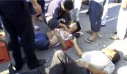 Minibüsten Fırlayan Yaralılar Yola Saçıldı