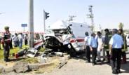 Askeri Ambulans Kaza Yaptı: 4 Yaralı