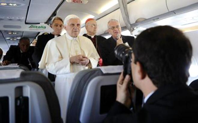 Papa İngiltere'de
