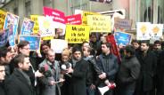 AK Parti'li Gençlerden Müjdat Gezen Protestosu