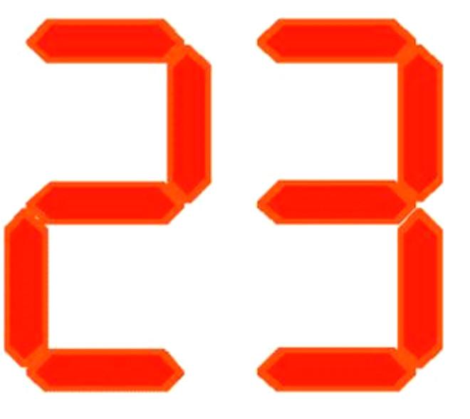 Картинка с числом 23