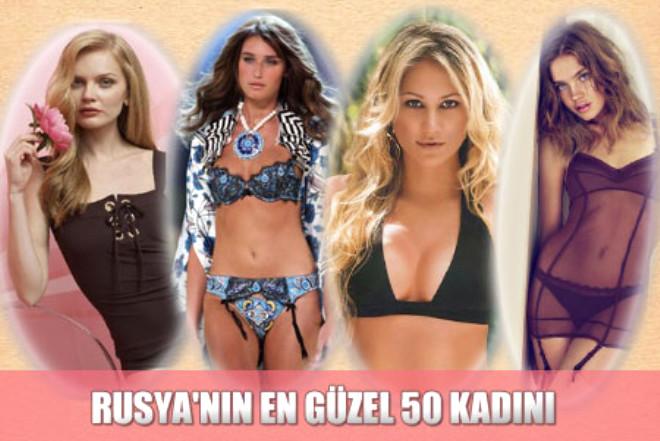 Rusya'nın En Güzel 50 Kadını