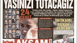 24 Şehit'e Gazeteler Ne Manşet Attı?