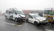 Konya'da 25 Araç Bir Birine Girdi
