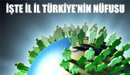 İşte İl İl Türkiye'nin Nüfusu