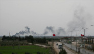 Suriye Türk Sınırında Köyleri Bombalıyor